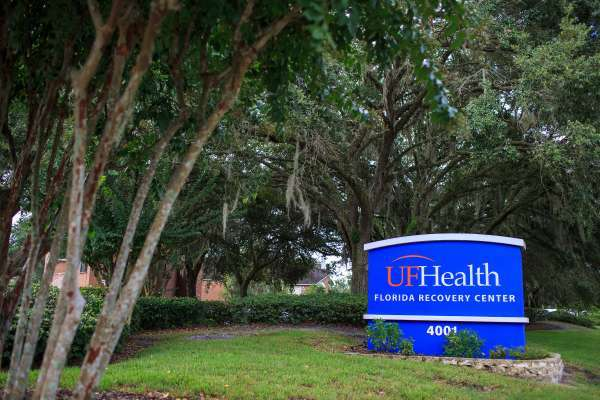 UF Health Florida Recovery Center sign